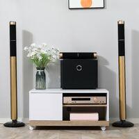 HOMCOM Carrello Porta TV con 1 Anta e Vani Aperti, Mobile per TV fino 42''
