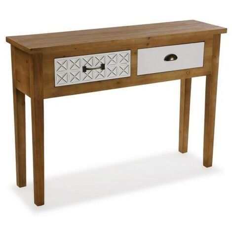 Happy Home Appendiabiti in legno con tavolo 5 ganci per corridoio camera da letto bianco, 40 x 40 x 170 cm