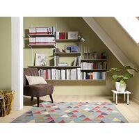Element System - Guide da parete, 2 file, 2 pz, 4 dimensioni, 10001-00014, bianco, alluminio, 100 cm
