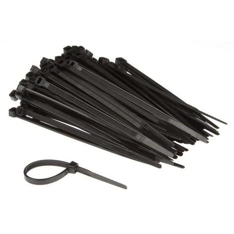 Colliers De Serrage En Nylon - 4.6 X 120 Mm - Noir (100 Pcs)