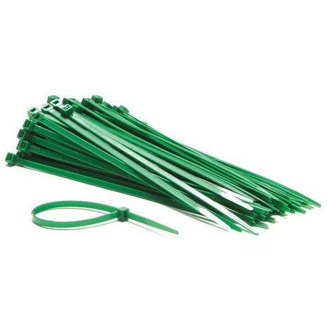 Colliers De Serrage En Nylon - 4.8 X 200 Mm - Vert (100 Pcs)