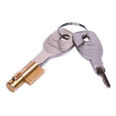 Barrillet de serrure antivol pour tête d'attelage réf 031041 et 242411