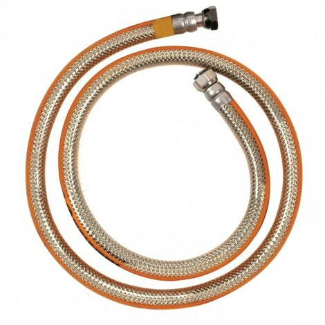 Tuyau Flexible gaz inox butane / propane 1m50 NF à visser, sans date limite