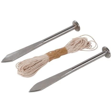 Pointes pour cordeau de maçon - 160 mm