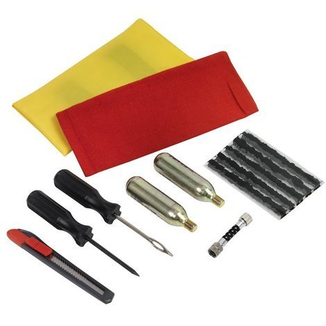 Kit de réparation de pneus Moto et Quad avec accessoires de gonflage