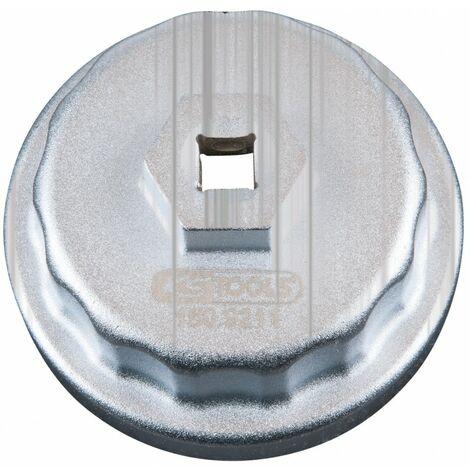 """Cloche filtre à huile 3/8"""" 64,5mm 14 pans 3 encoches du coffret 150,9210"""
