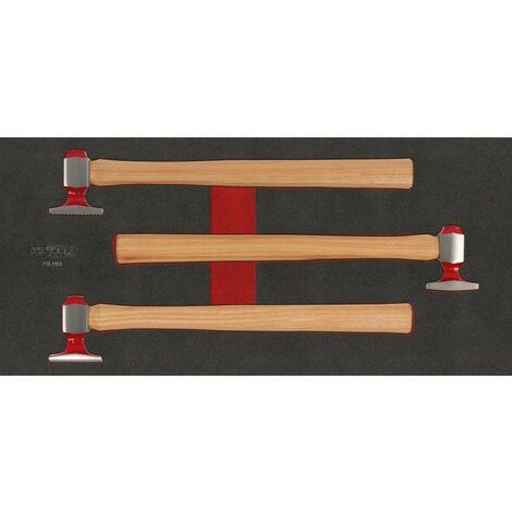Module de débosselage de carrosserie, 3 pièces