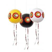 Lot de 3 ballons effaroucheurs diam 40cm jaune/blanc/noir