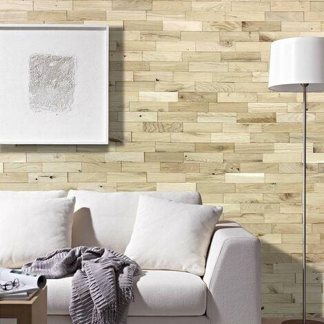 Parement Bois Chêne Rustique Nature Revêtement Mural 200mm | 1m²