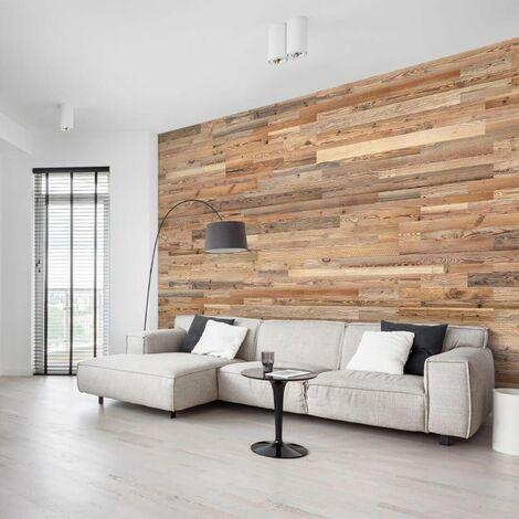 Revêtement Mural Bois Amber - 1 m², 18 planches