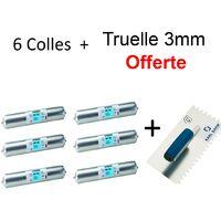 Kit Colle Parement Bois Wakol - 6X600ml + Truelle 3mm OFFERTE
