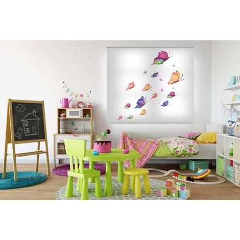 Estor enrollable para dormitorio infantil Mariposa - 120x160