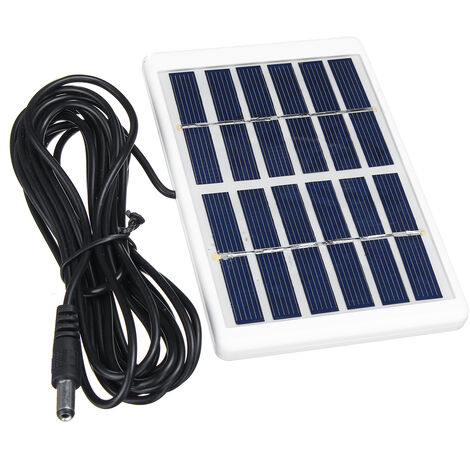 5W 6V Solar Panel Solar Power Polysilicon Solar Power Panel Battery Charger + 3M Mohoo Cable