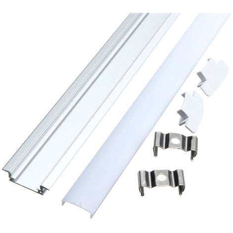 50CM Small aluminum profile for LED strip + V rigid cover Mohoo
