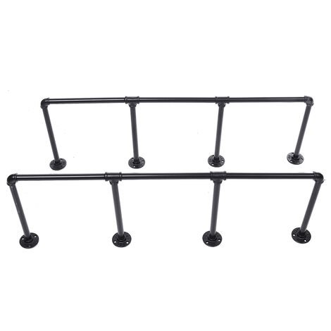 2pcs Ladder Wall Shelf Pipe Vintage Industrial Floating Bookcase Mohoo