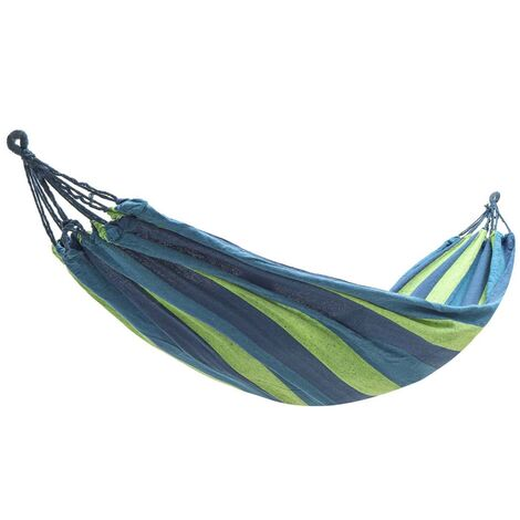 Outdoor Garden Portable Canvas Hammock Travel Camping Swing Hanging Chair Bed blue Hammock 280x150cm