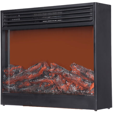 Electric Heater Fireplace Winter Log Burning Fire Flame Stove