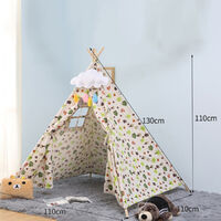 Teepee Tent For Kids Indian Play Tent Home Garden 100x100x135cm B Mohoo