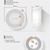 BlitzWolf & reg;BW-LT22 Radar Sensor LED Night Light Dry Battery Touch Dimming Handling for Mohoo Home