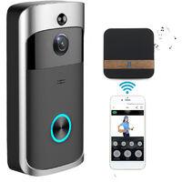 WiFi Doorbell IR Camera Video Security Night Vision Phone Control US SOCKET Mohoo