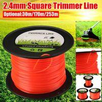 2.4mm Heavy Duty Nylon Square Trimmer Line Brushcutter Rope 253m