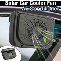 Solar Sun Power Car Auto Air Vent Cool Fan Cooler Ventilation System Radiator with Instruction Manual