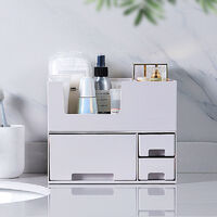 Storage Box Makeup Storage Desktop Stationery Orgnaztion white
