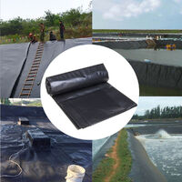 Fish Pond Liner Gardens Pools HDPEMembrane Reinforced Landscaping black 3x3m