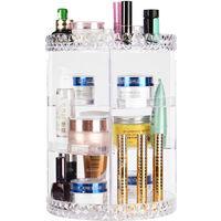Rotating Cosmetic Drawer Storage Box Transparent