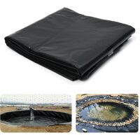 5x10ft Fish Pond Liner Garden Pools Reinforced HDPE Waterproof