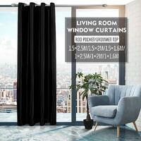 Curtain Window Sun Block 1 Panel without Hook 150x200cm Black