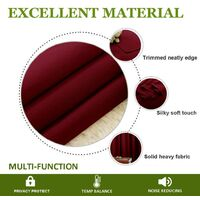 Curtain Window Sun Block 1 Panel without Hook 150x200cm WineRed