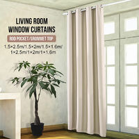 Curtain Window Sun Block 1 Panel without Hook 150x250cm Beige