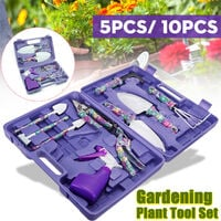 10PCS Purple Gardening Tools Set Gifts Ergonomic Non Slip Handle Garden Hand Tool Set