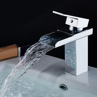 Waterfall Style Faucet Basin Sink Single Lever Hot&Cold Mixer Tap