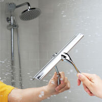 10 '' Clear Suction Stainless Steel Bath / Shower Blade Mohoo All Purpose Squeegee