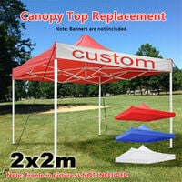 2x2M 1-Tier Outdoor Garden Canopy Gazebo Top Cover Roof Replacement Oxford No Frame (red,Type C 6.8*6.8ft only Top Canopy)