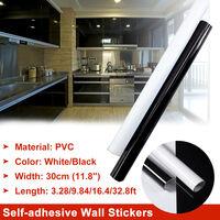Width 30cm Kitchen Worktop Covering Vinyl Cupboard Self Adhesive Sticker Anti-oil(white,10M 32.8ft Length)