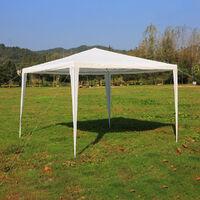 3x3M Garden Outdoor White Waterproof Gazebo Marquee Heavy Duty Tent Canopy