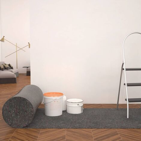Bâche de protection contre peinture 2 pcs 50 m 180 g/m² Gris