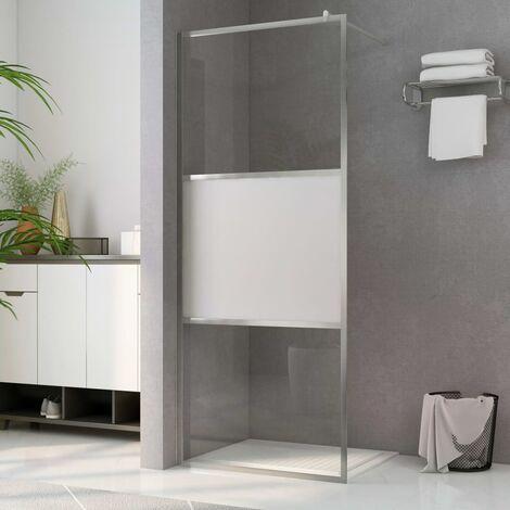 Paroi de douche à l'italienne à verre ESG demi-dépoli 115x195cm