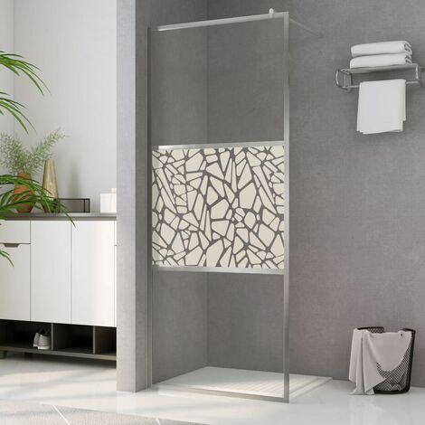 Paroi de douche à l'italienne à verre ESG pierre 115x195 cm