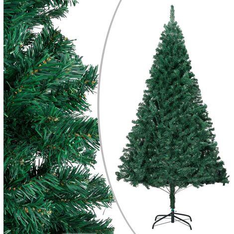 Arbre de Noël artificiel avec branches épaisses Vert 210 cm PVC