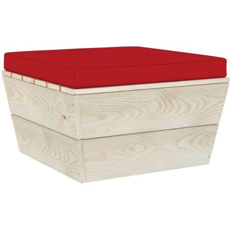 Coussin de repose-pied palette Rouge Tissu
