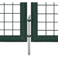 Portail de Clôture en Grillage Galvanisée 289 x 75 cm / 306 x 125 cm