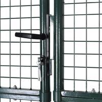 Portail de Clôture en Grillage Galvanisée 289 x 175 cm / 306 x 225 cm