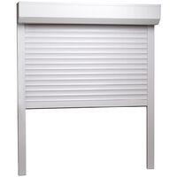 Volet roulant Aluminium 100 x 120 cm Blanc