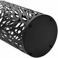 Porte-parapluie Feuilles Acier Noir