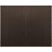 Abri pour poubelle double Marron 153x78x120 cm Résine tressée