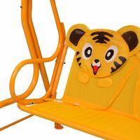 Balancelle pour enfants Jaune 115x75x110 cm Tissu